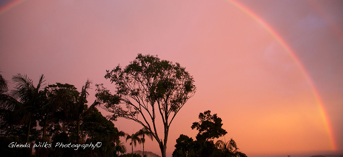 a beautiful rainbow at dawn on a winters day...