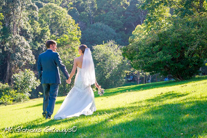 Mount Glorious Getaways rolling lawn - excellent Brisbane Wedding Venue